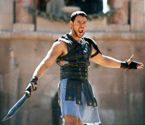 Wouldn't you want to attend this Gladiator's musical performance?
