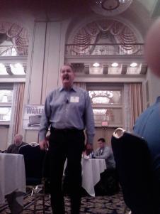 Speaker at training