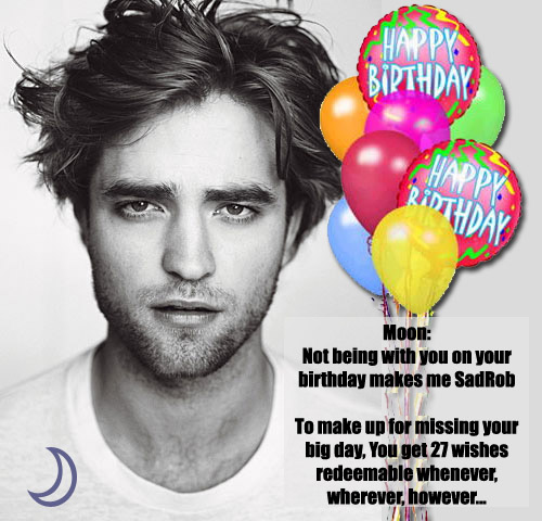 Robert pattinson birthday greeting