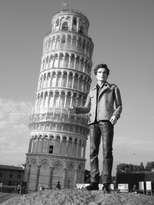 While in Italy, I found a tower that I helped push back up straight