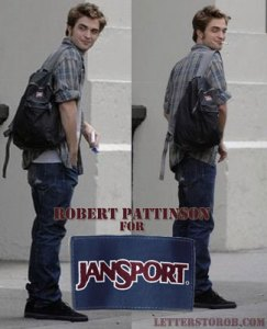 Rob should keep his day job (spokesperson for Jansport) and never become a dad