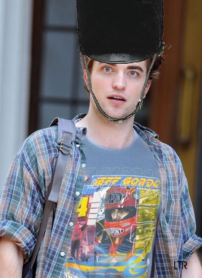 You'd never know this was Rob on the street if you saw him wearing his Beefeater hat